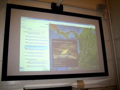 Virtual Vivarium in Google Earth