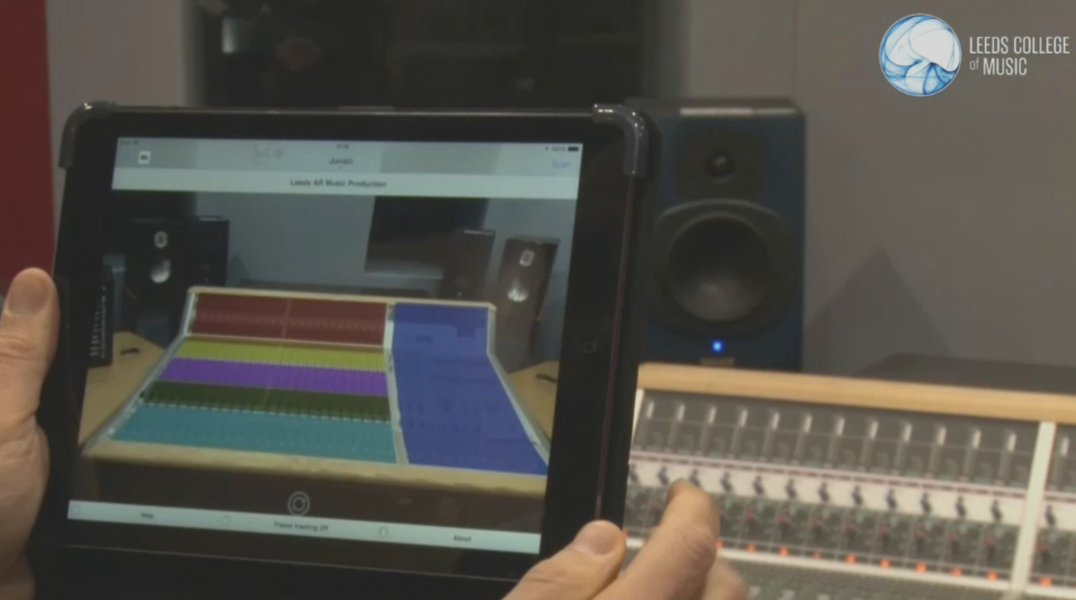 Leeds College of Music AR screenshot